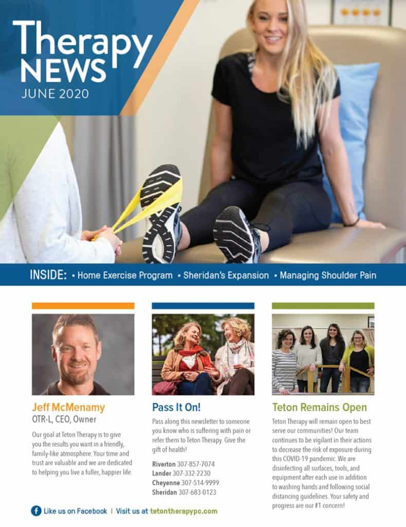 June 2020 Teton Therapy Newsletter