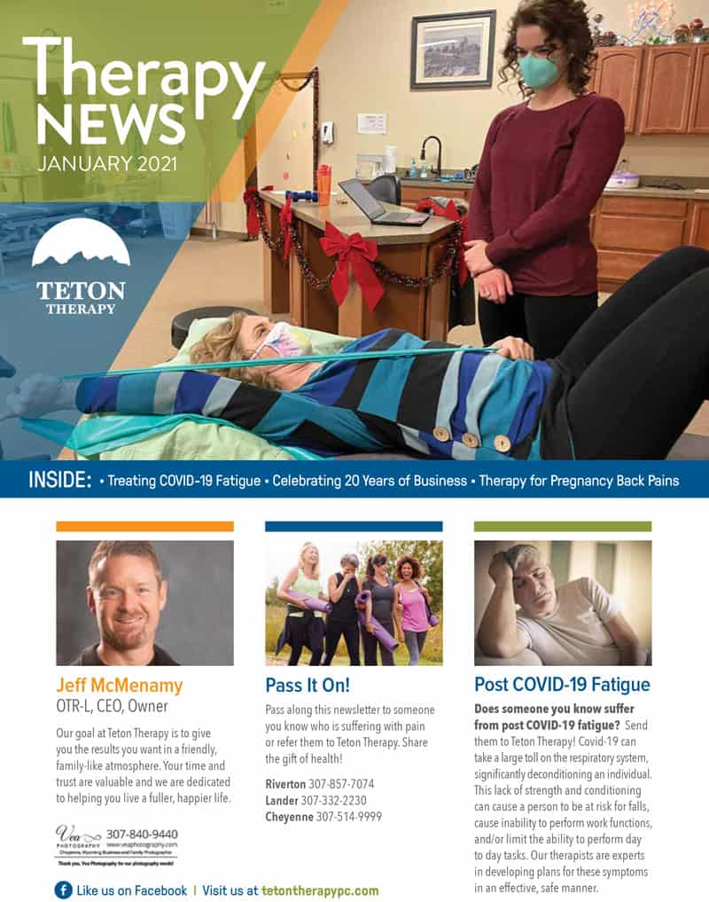 January Newsletter Teton Therapy, Wyoming
